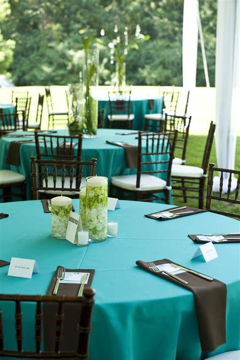 blue chocolate brown wedding reception gorgeous photo by swank photo studio http