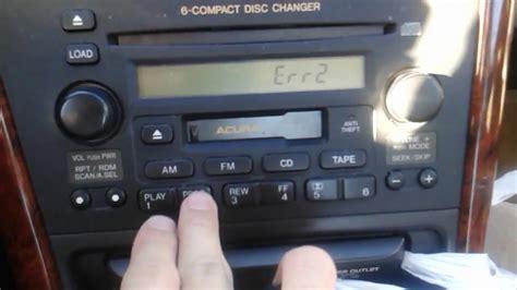 2002 Acura Tl Radio Code by 1999 2003 Acura 3 2tl Radio Error Code Repair