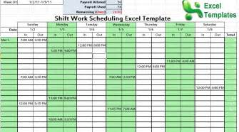 Excel Spreadsheet For Scheduling Employee Shifts by Shift Work Scheduling Excel Template Scheduling Template