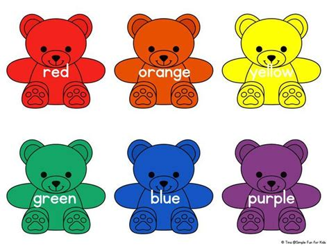 learning colors for toddlers rainbow colors printable color activities