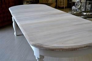 TAVOLO OVALE BIANCO SHABBY CHIC ALLUNGABILE Tavoli provenzali decapati INVAB3 eBay