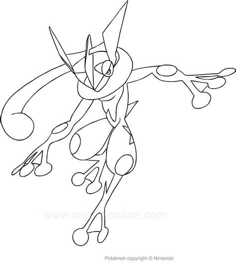 immagini di pokémon da disegnare disegno di greninja dei da colorare