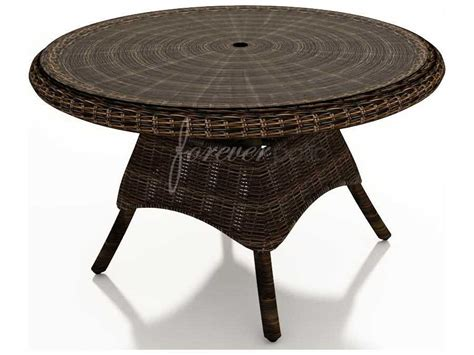 forever patio leona wicker 48 glass top dining table