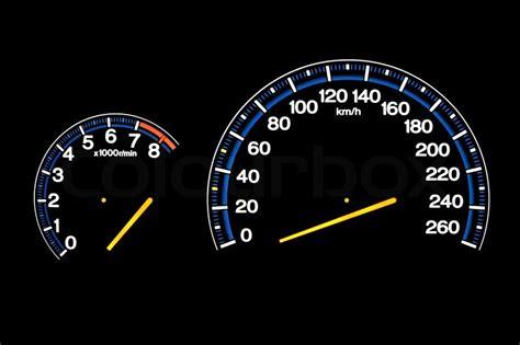 Driving Speed Speedometer Gauge On Car Dashboard