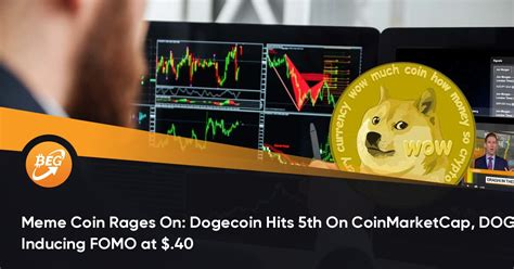 Meme Coin Rages On: Dogecoin Hits 5th On CoinMarketCap ...