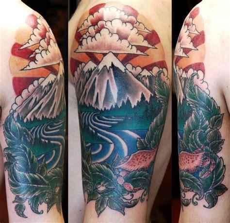 Best Mountain Tattoos Images Pinterest
