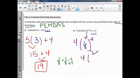 grade   algebra variables  expressions youtube