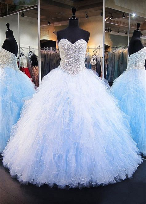 light blue tulle dress gown sweetheart light blue tulle ruffle pearl