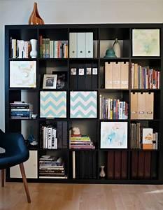 etageres ikea kallax en 55 idees de rangement pratiques With meuble salon moderne design 4 etagare design coloris noir caly bibliothaque et etagare
