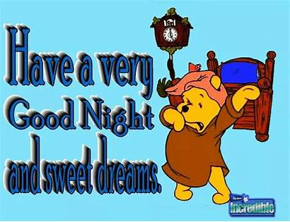 Night Clipart Quotes Pooh Bear Dreams Sweet