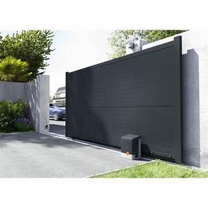 Portail Alu Coulissant 4m : portail coulissant aluminium lima gris anthracite primo l ~ Dailycaller-alerts.com Idées de Décoration