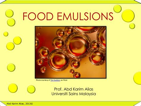 emulsion cuisine food emulsion
