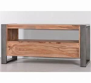 Tv 120 Cm : meuble tv 120 cm industry en palissandre et acier 6745 ~ Teatrodelosmanantiales.com Idées de Décoration