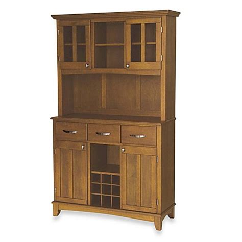 Sideboards And Servers by Home Styles Cottage Oak Wood Top Large Buffet Server With