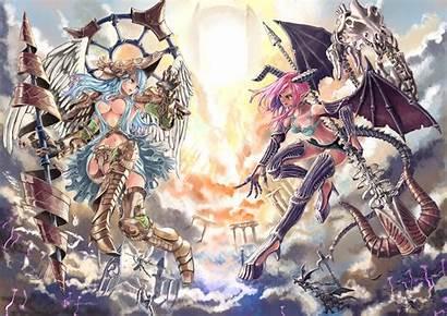 Angel Anime Demon Devil Wings Horns Armor