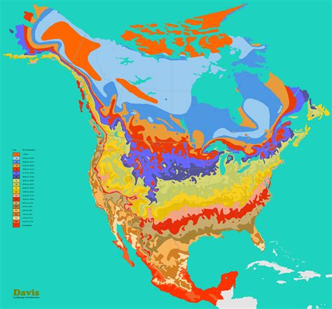 north america hardiness map landscape architects pages