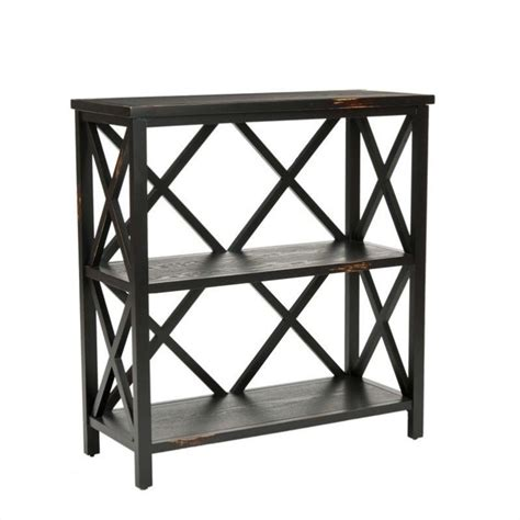 Black Etagere by Safavieh Lucas Distressed Etagere In Black Ebay