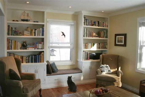 Built In Bookcases Around Window Styles Yvotubecom