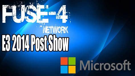 e3 2014 post show microsoft xbox press conference