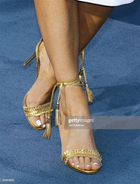 TV personality Maria Menounos, shoe detail, attends the ...