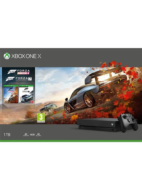forza horizon 4 xbox microsoft xbox one x console 1tb with wireless controller and forza horizon 4 forza