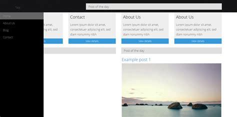 Bootstrap Sidebar Theme