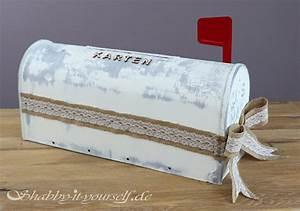 Shabby It Yourself : so wird ein us briefkasten zur diy vintage wedding karten box ~ Frokenaadalensverden.com Haus und Dekorationen