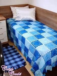 Blue Lace Crochet Squares Bedspread  U22c6 Crochet Kingdom
