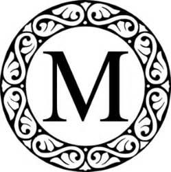fancy letter m clipart