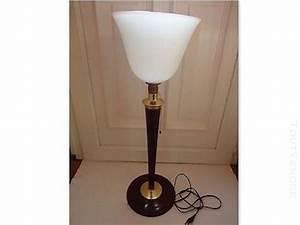 Lampe De Bureau Ancienne : lampe laiton opaline clasf ~ Teatrodelosmanantiales.com Idées de Décoration