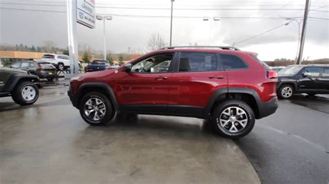 jeep cherokee trailhawk red 2016 jeep cherokee trailhawk gw250903 deep cherry red
