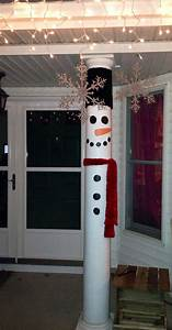 Turn, Your, Front, Porch, Pillars, In, To, Snow, Men
