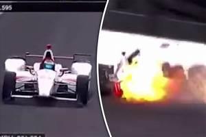 Accident Bourdais Indianapolis : indy 500 watch video of sebastien bourdais crash ahead of alonso 39 s run daily star ~ Maxctalentgroup.com Avis de Voitures