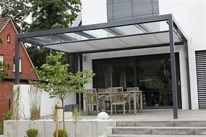 terrassen uberdachung flachdach mit glas With markise balkon mit bild auf tapete drucken