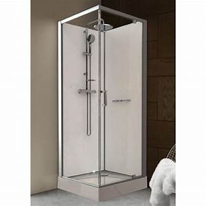 cabine de douche 90 x 90 cm prete a poser porte With cabine douche porte pivotante