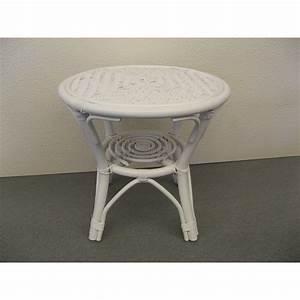 Table Basse Enfant : table basse en rotin coloris blanc ~ Teatrodelosmanantiales.com Idées de Décoration