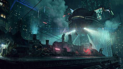 Cyberpunk Fantasy World Scifi Raining Wallpapers