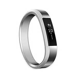 fitbit alta small metal accessory band in silver bed bath beyond
