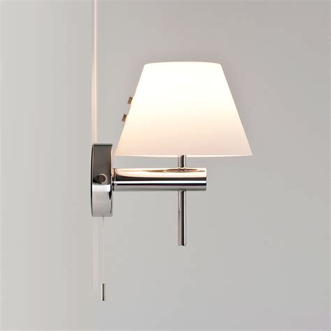 astro roma switched polished chrome bathroom wall light at