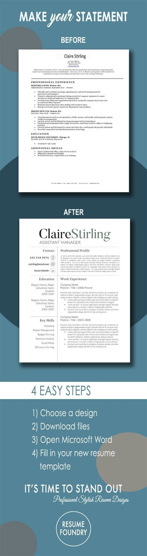 Pages Resume Templates Not In by Modern Resume Template For Word 1 3 Page Resume Cover