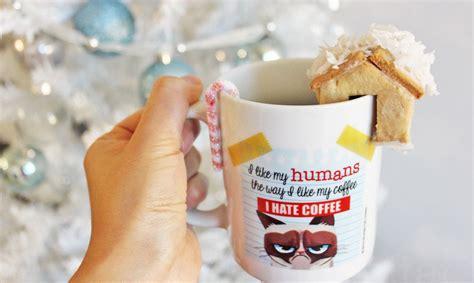 mini gingerbread house mug huggers