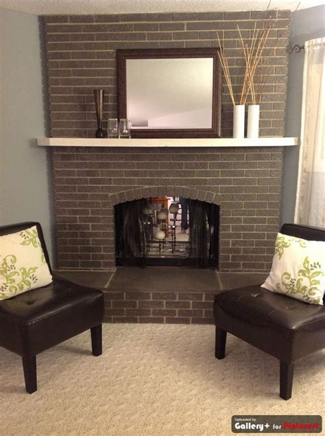 fireplace paint grey painted brick fireplace like that it still looks like brick maybe use wall paint for