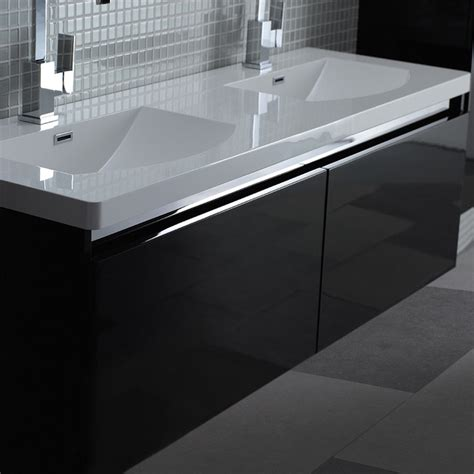 milano stone noire double designer bathroom wall mounted