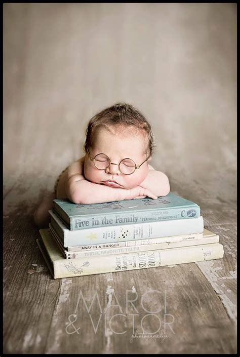 newborn pose photography idea books glasses boy marci
