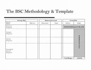fine bsc template sketch example resume ideas With operational scorecard template