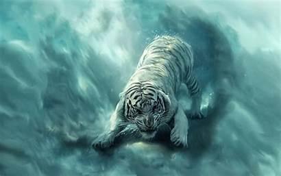 Tiger Angry Fantasy Animal Painting Tigre Animals
