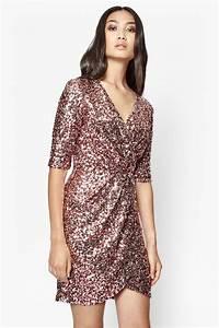 Lunar Sparkle Sequin Wrap Dress