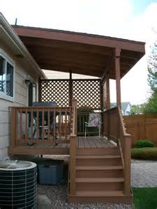 shed roof over deck photo