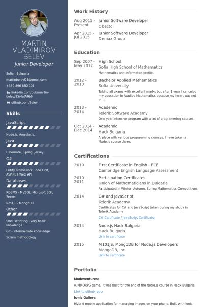 Free Resume Software by Junior Software Developer Resume Exle Cv Resume