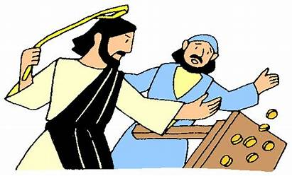 Jesus Temple Clipart Cleansing Moneychangers Demons Craft